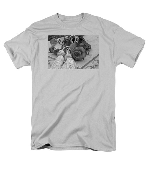 Men's T-Shirt  (Regular Fit) featuring the photograph Tassels And Roses Beauty by Sandra Foster