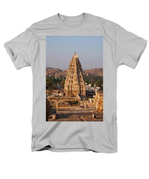 Temple At Hampi Men's T-Shirt  (Regular Fit) by Carol Ailles