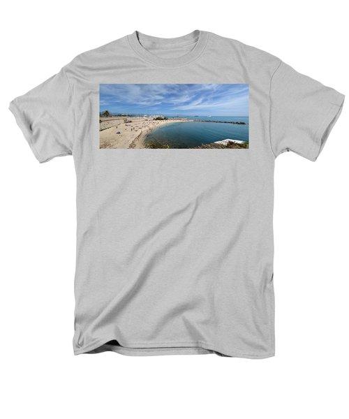 Men's T-Shirt  (Regular Fit) featuring the photograph The Beach At Cap D' Antibes by Allen Sheffield