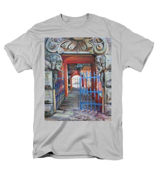 The Blue Gate Men's T-Shirt  (Regular Fit) by Marina Gnetetsky