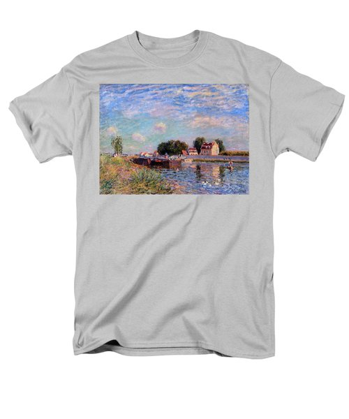 The Canal At Saint-mammes Men's T-Shirt  (Regular Fit) by Alfred Sisley