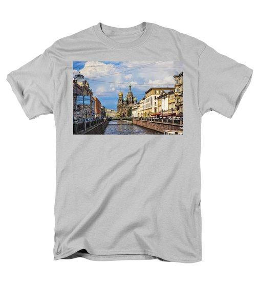 The Church Of Our Savior On Spilled Blood - St. Petersburg - Russia Men's T-Shirt  (Regular Fit) by Madeline Ellis