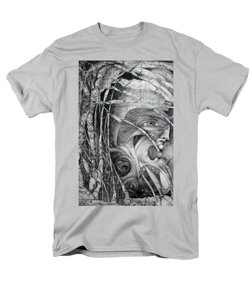 Men's T-Shirt  (Regular Fit) featuring the drawing The Eye Of The Fomorii - Regrouping For The Battle by Otto Rapp