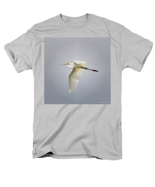The Flight Of The Great Egret With The Stained Glass Look Men's T-Shirt  (Regular Fit) by Verana Stark