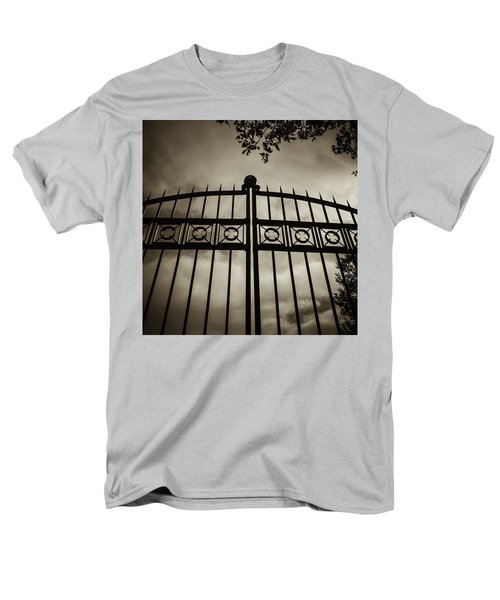 Men's T-Shirt  (Regular Fit) featuring the photograph The Gate In Sepia by Steven Milner