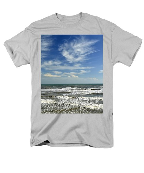 The Gulf Of Mexico From Galveston Men's T-Shirt  (Regular Fit) by Allen Sheffield