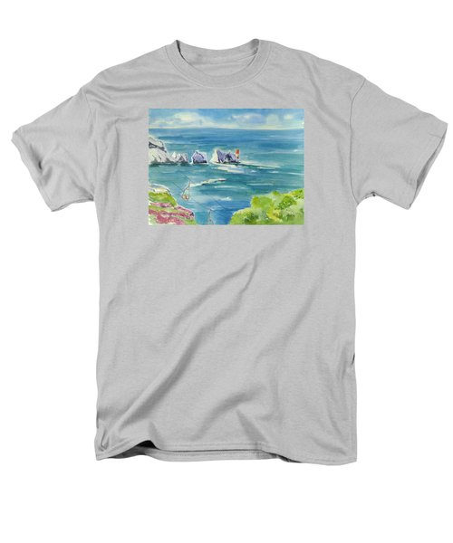 The Needles Isle Of Wight Men's T-Shirt  (Regular Fit) by Geeta Biswas