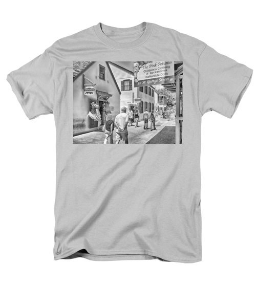 Men's T-Shirt  (Regular Fit) featuring the photograph The Pink Petunia by Howard Salmon