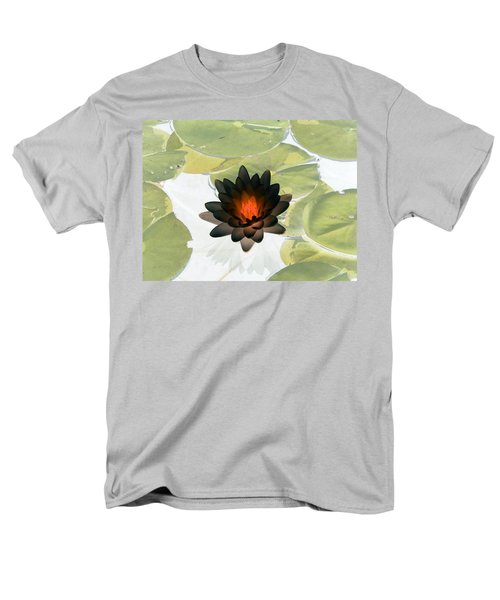 Men's T-Shirt  (Regular Fit) featuring the photograph The Water Lilies Collection - Photopower 1034 by Pamela Critchlow