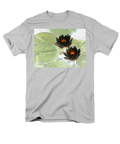 Men's T-Shirt  (Regular Fit) featuring the photograph The Water Lilies Collection - Photopower 1039 by Pamela Critchlow