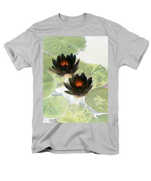Men's T-Shirt  (Regular Fit) featuring the photograph The Water Lilies Collection - Photopower 1040 by Pamela Critchlow