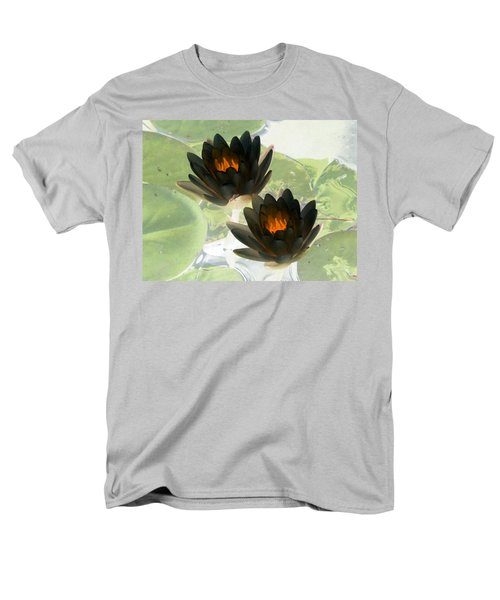 Men's T-Shirt  (Regular Fit) featuring the photograph The Water Lilies Collection - Photopower 1041 by Pamela Critchlow