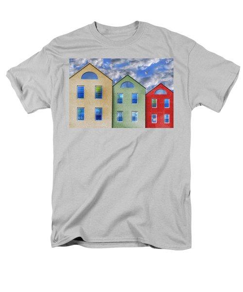 Three Buildings And A Bird Men's T-Shirt  (Regular Fit) by Paul Wear