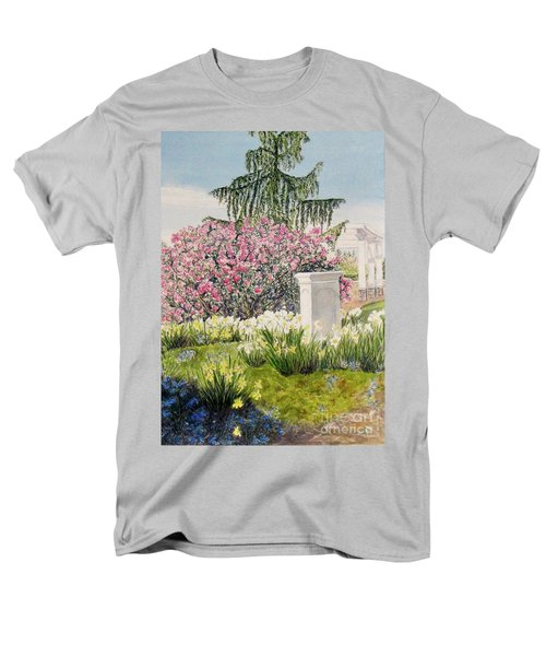 Men's T-Shirt  (Regular Fit) featuring the painting Tower Hill Center by Carol Flagg