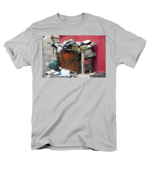 Men's T-Shirt  (Regular Fit) featuring the photograph Trash Dumpster In Slums by Gunter Nezhoda