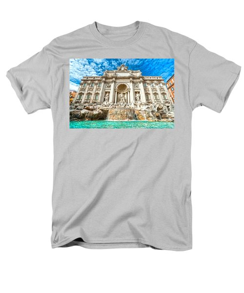 Trevi Fountain - Rome Men's T-Shirt  (Regular Fit) by Luciano Mortula