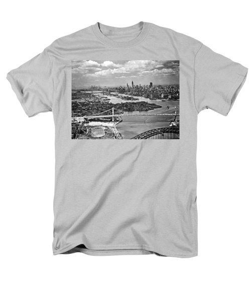 Triborough Bridge Is Completed Men's T-Shirt  (Regular Fit) by Underwood Archives
