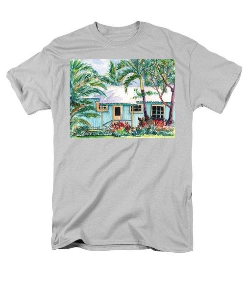 Tropical Vacation Cottage Men's T-Shirt  (Regular Fit) by Marionette Taboniar