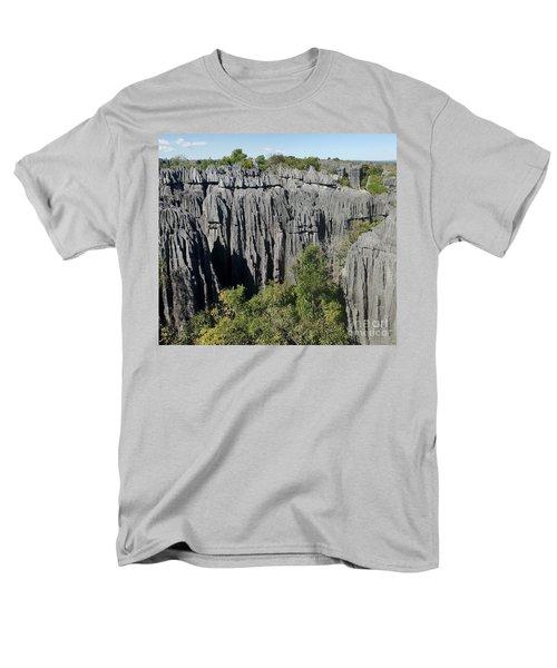 Men's T-Shirt  (Regular Fit) featuring the photograph Tsingy De Bemaraha Madagascar 1 by Rudi Prott