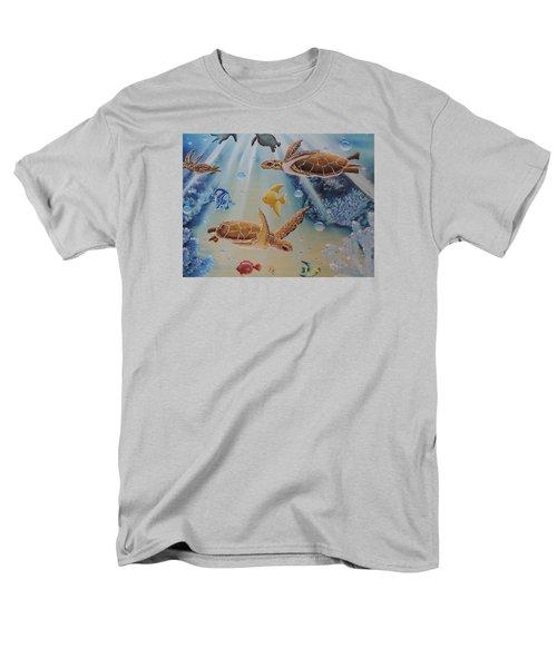 Turtles At Sea #2 Men's T-Shirt  (Regular Fit) by Dianna Lewis