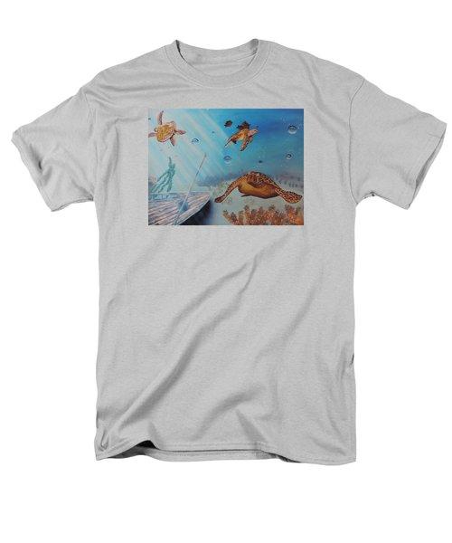 Turtles At Sea Men's T-Shirt  (Regular Fit) by Dianna Lewis