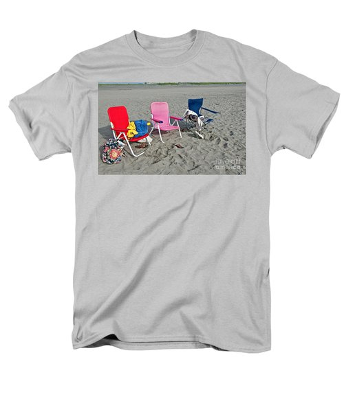 Men's T-Shirt  (Regular Fit) featuring the photograph Vacation Time Beach Art Prints by Valerie Garner