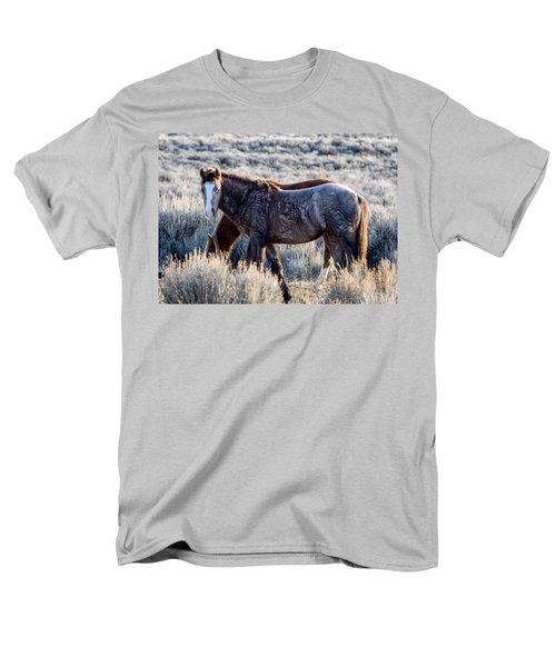 Velvet - Young Colt In Sand Wash Basin Men's T-Shirt  (Regular Fit) by Nadja Rider