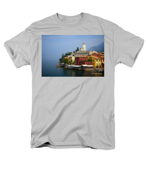 Village Near The Water With Alps In The Background  Men's T-Shirt  (Regular Fit) by Nick  Biemans