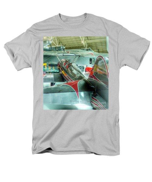 Vintage Airplane Comparison Men's T-Shirt  (Regular Fit) by Susan Garren