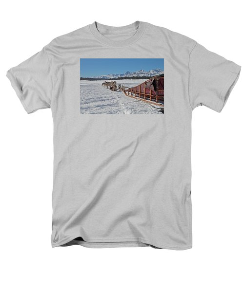 Waiting Sled Dogs  Men's T-Shirt  (Regular Fit) by Duncan Selby