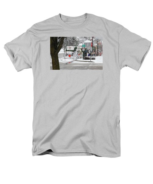 Men's T-Shirt  (Regular Fit) featuring the photograph Waiting To Give A Ride by Janice Adomeit