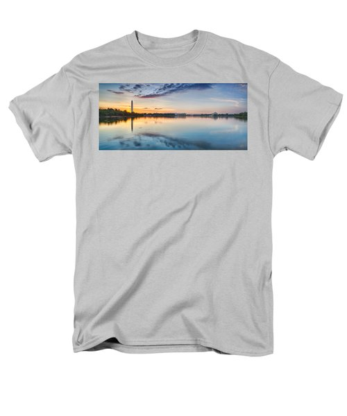 Washington Dc Panorama Men's T-Shirt  (Regular Fit) by Sebastian Musial