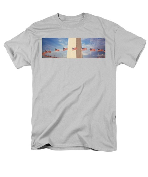 Washington Monument Washington Dc Usa Men's T-Shirt  (Regular Fit) by Panoramic Images