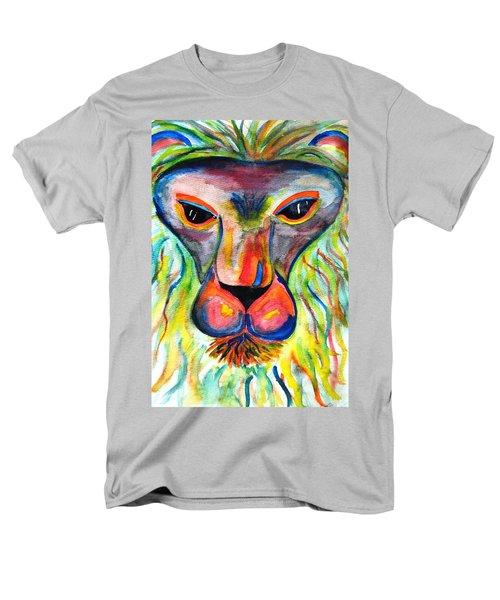 Watercolor Lion Men's T-Shirt  (Regular Fit) by Angela Murray