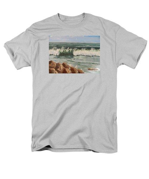 Waves Crashing Men's T-Shirt  (Regular Fit) by Pamela  Meredith