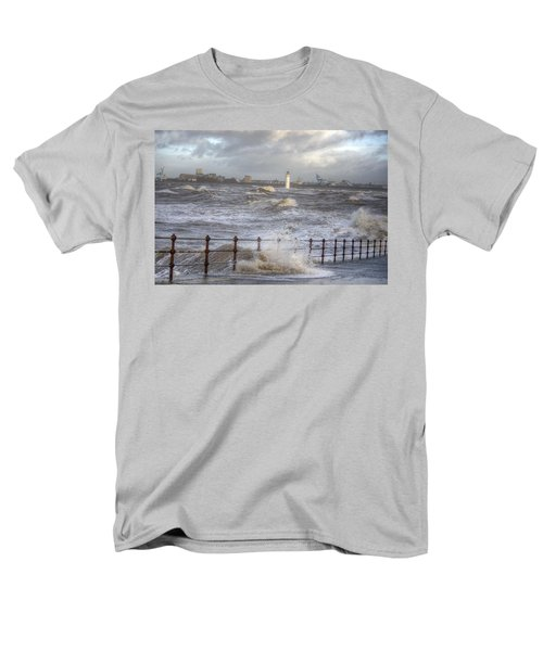 Waves On The Slipway Men's T-Shirt  (Regular Fit) by Spikey Mouse Photography