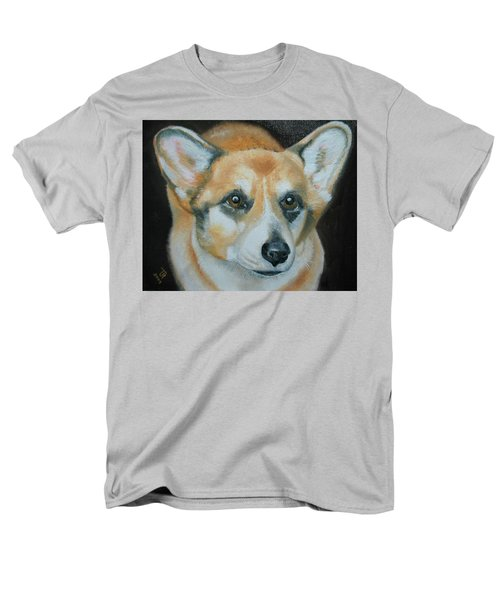 Men's T-Shirt  (Regular Fit) featuring the painting Welsh Corgi by Thomas J Herring