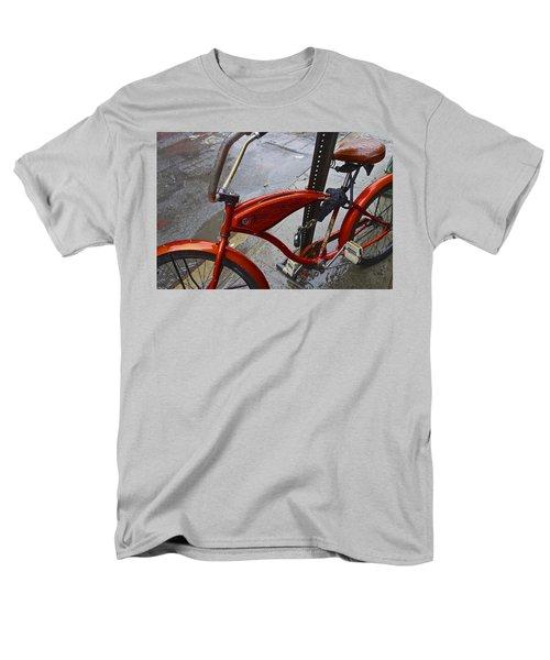 Wet Orange Bike   Nyc Men's T-Shirt  (Regular Fit) by Joan Reese