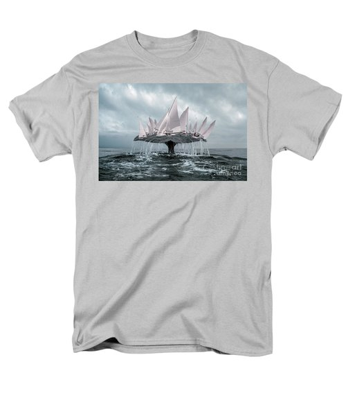 Men's T-Shirt  (Regular Fit) featuring the pyrography Whale by Evgeniy Lankin