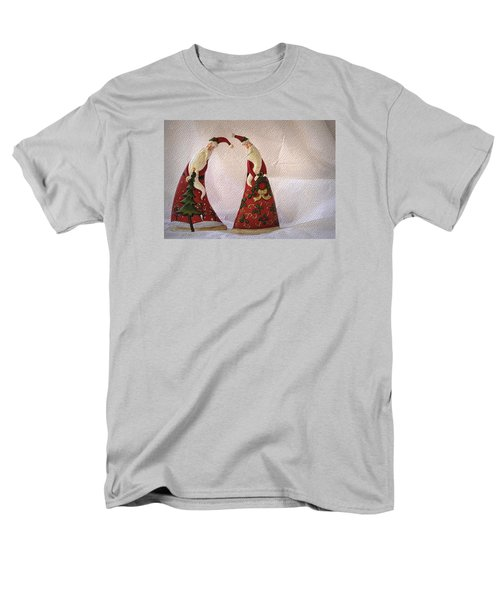 Men's T-Shirt  (Regular Fit) featuring the photograph Whimsical Santas by Nadalyn Larsen