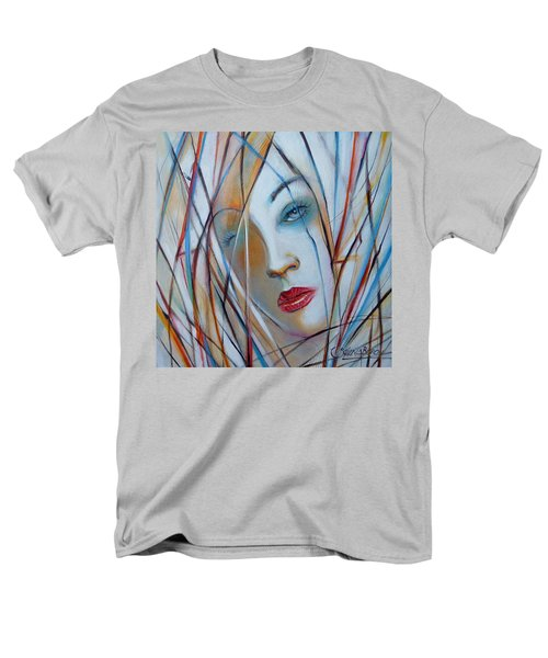 Men's T-Shirt  (Regular Fit) featuring the painting White Nostalgia 010310 by Selena Boron