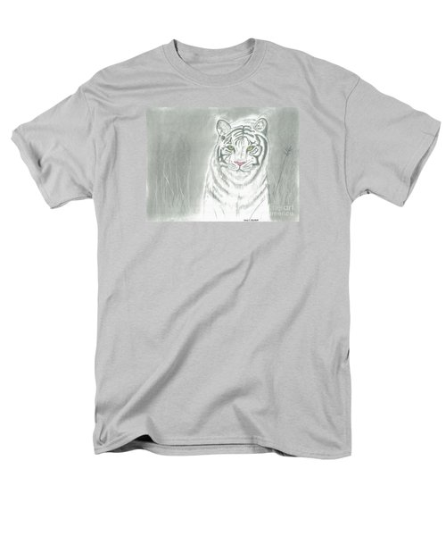 Men's T-Shirt  (Regular Fit) featuring the pastel White Tiger by David Jackson
