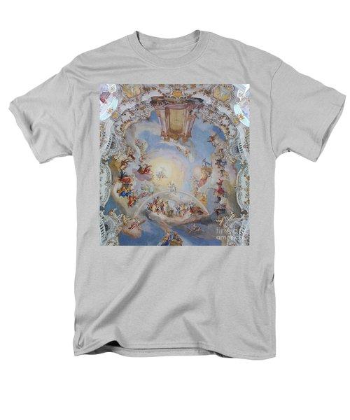 Men's T-Shirt  (Regular Fit) featuring the photograph Wies Pilgrimage Church Bavaria Fresko by Rudi Prott