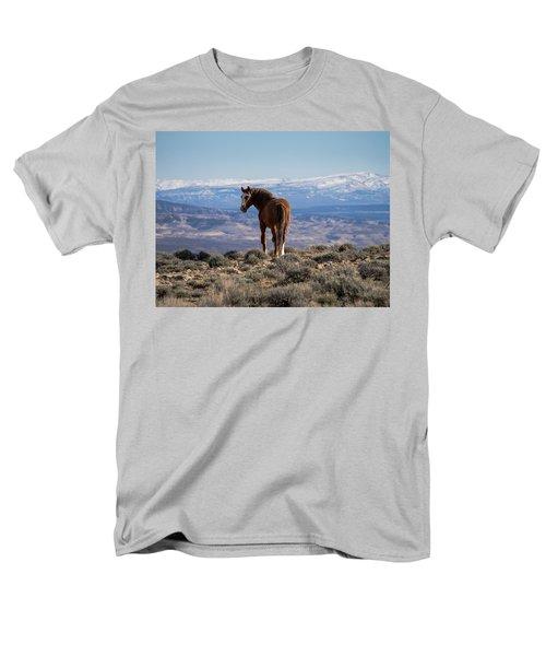 Wild Stallion Of Sand Wash Basin Men's T-Shirt  (Regular Fit) by Nadja Rider
