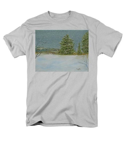 Men's T-Shirt  (Regular Fit) featuring the painting Winter Blanket by Judith Rhue