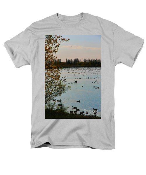 Winter Escape Gathering Men's T-Shirt  (Regular Fit) by Teresa Zieba