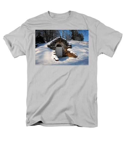 Winter Hobbit Hole Men's T-Shirt  (Regular Fit) by Michael Porchik