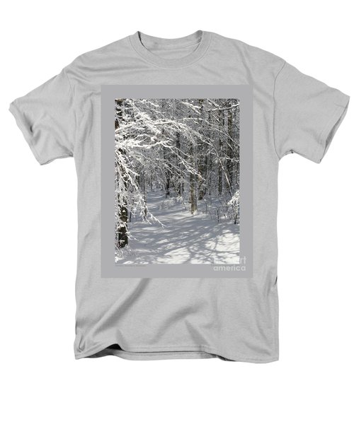 Wintery Woodland Shadows Men's T-Shirt  (Regular Fit) by Patricia Overmoyer