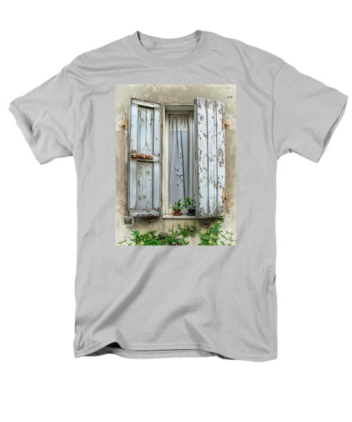 Wooden Shutters In Urbino Men's T-Shirt  (Regular Fit) by Jennie Breeze
