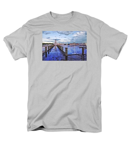 Yacht And Beach Club Lighthouse Men's T-Shirt  (Regular Fit) by Thomas Woolworth